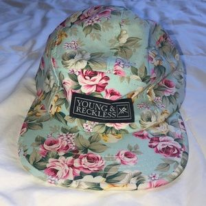 Young & Reckless Floral Snapback